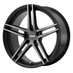 KMC Wheels KMC Wheels KM703 Monophonic - Satin Black w/Titanium Black Face