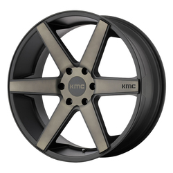 KMC Wheels KM704 DISTRICT TRUCK - Matte Black w/Dark Tint - 24x9