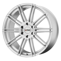 KMC Wheels KM707 Channel - Brushed Silver Rim - 24x9.5