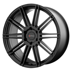 KMC Wheels KM707 Channel - Satin Black Rim - 24x9.5