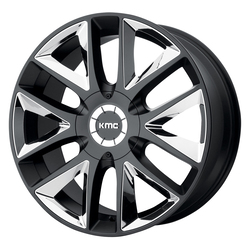 KMC Wheels KMC Wheels KM710 Takedown - Satin Black w/Chrome Inserts