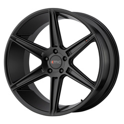 KMC Wheels KM711 Prism - Satin Black Rim - 22x10.5