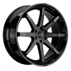 KMC Wheels KMC Wheels KM715 Reverb - Satin Black With Gloss Black Lip