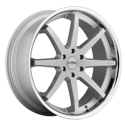 KMC Wheels KM715 Reverb - Brushed Silver With Chrome Lip - 22x9.5