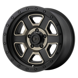 XD Series Wheels Fusion Off-Road - Satin Black Machined w/Dark Tint Clear Coat Rim