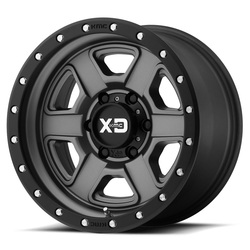 XD Series Wheels XD133 Fusion Off-Road - Satin Gray w/Satin Black Lip Rim