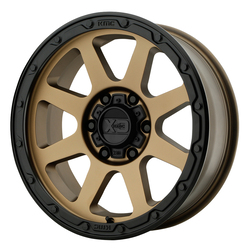 XD Series Wheels XD134 Addict 2 - Matte Bronze w/Matte Black Lip Rim