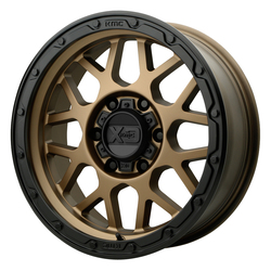 XD Series Wheels XD135 Grenade OR - Matte Bronze w/Matte Black Lip Rim - 20x9