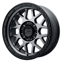 XD Series Wheels XD135 Grenade OR - Matte Gray With Matte Black Lip Rim