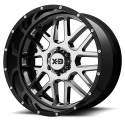XD Series Wheels XD201 Grenade - Chrome Center w/Gloss Black Milled Lip
