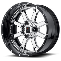 XD Series Wheels Buck 25 - Chrome Center w/Gloss Black Milled Lip