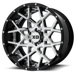 XD Series Wheels XD203 Chopstix - Chrome Center w/Gloss Black Milled Lip Rim