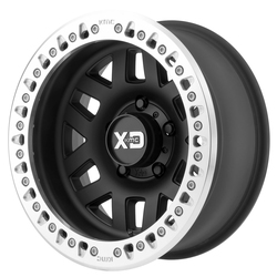 XD Series Wheels XD229 Machete Crawl - Satin Black With Machined Bead Ring Rim