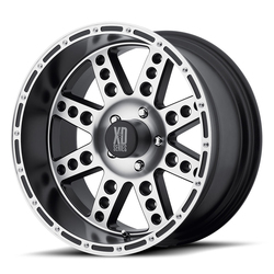 XD Series Wheels XD766 Diesel - Matte Black Machined