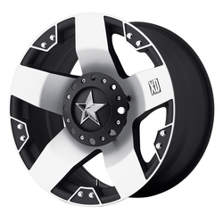 XD Series Wheels XD775 Rockstar - Machined Face w/Matte Black Windows - 20x8.5