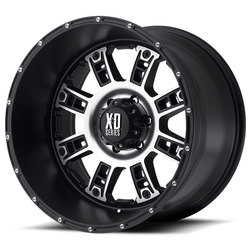 XD Series Wheels XD809 Riot - Matte Black Machined