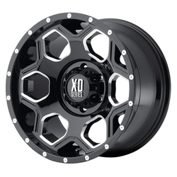 XD Series Wheels XD813 Batallion - Gloss Black Milled