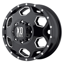 XD Series Wheels XD815 Battalion - Gloss Black w/Milled Accents - 17x6