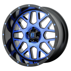 XD Series Wheels XD820 Grenade - Satin Black Machined Face w/Blue Tinted Clear Coat
