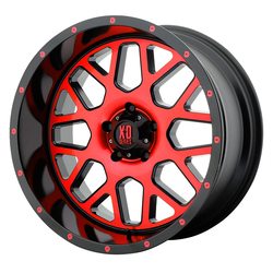 XD Series Wheels XD820 Grenade - Satin Black Machined Face w/Red Tinted Clear Coat Rim