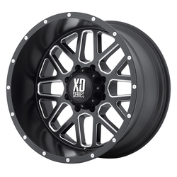 XD Series Wheels XD820 Grenade - Satin Black Milled - 18x8