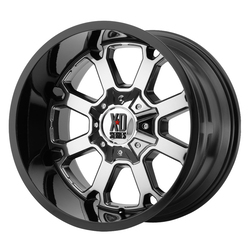 XD Series Wheels XD825 Buck 25 - PVD Center w/Gloss Black Lip
