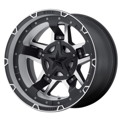 XD Series Wheels Rockstar III - Matte Black and Machined w/Black Accents