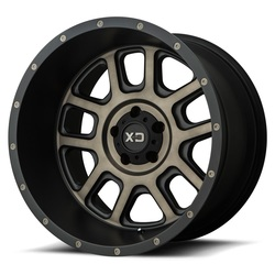 XD Series Wheels XD828 Delta - Matte Black w/Dark Tint Clear - 22x14
