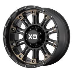 XD Series Wheels XD829 Hoss II - Satin Black Machined With Dark Tint Rim