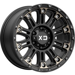 XD Series Wheels XD829 Hoss II - Satin Black Machined With Dark Tint Rim