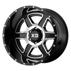 XD Series Wheels XD832 Fusion - Gloss Black Machined