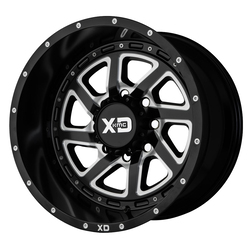 XD Series Wheels XD833 Recoil - Satin Black Milled w/Reversible Ring - 22x14