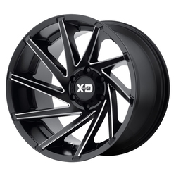 XD Series Wheels XD834 Cyclone - Satin Black Milled Rim