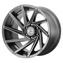 XD Series Wheels XD834 Cyclone - Satin Gray Milled Rim