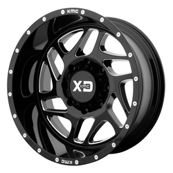 XD Series Wheels XD836 Fury - Gloss Black Milled Rim