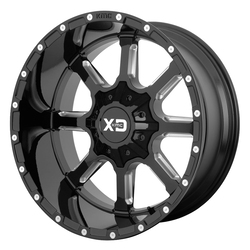 XD Series Wheels XD838 Mammoth - Gloss Black Milled Rim - 22x10