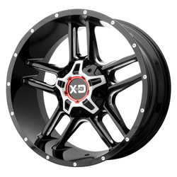XD Series Wheels XD839 Clamp - Gloss Black Milled Rim