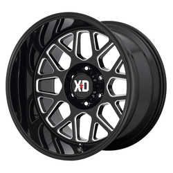XD Series Wheels XD849 - Gloss Black / Milled Rim
