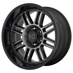 XD Series Wheels XD850 Cage - Gloss Black With Gray Tint Rim