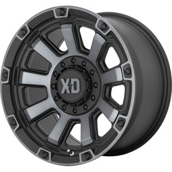 XD Series Wheels XD852 Gauntlet - Satin Black with Gray Tint Rim