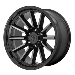 XD Series Wheels XD855 Luxe - Gloss Black Machined with Gray Tint Rim