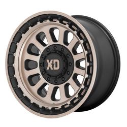 XD Series Wheels XD856 Omega - Satin Black With Bronze Tint Rim