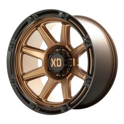 XD Series Wheels XD863 Titan - Matte Bronze with Black Lip Rim