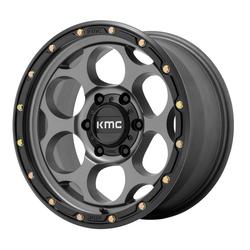 XD Series Wheels KM541 DIRTY HARRY - Satin Gray with Black Lip Rim