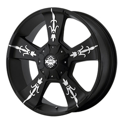 XD Series Wheels KM668 Vandal - Matte Black Machined Rim