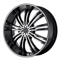 XD Series Wheels KM682 Spider - Gloss Black Machined Rim