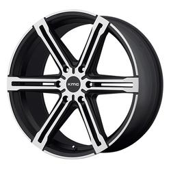 XD Series Wheels KM686 Faction - Satin Black Machined Rim