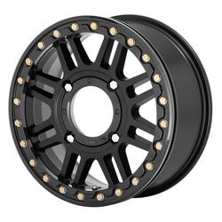 XD Series Wheels KS250 Cage - Satin Black With Gloss Black Ring Rim