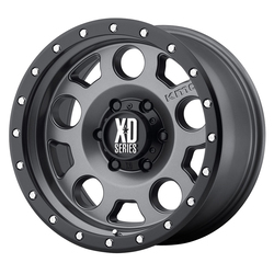 XD Series Wheels XD126 Enduro Pro - Matte Gray w/Black Reinforcing Ring Rim