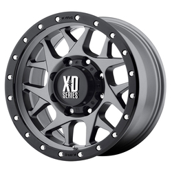 XD Series Wheels XD127 Bully - Matte Gray w/Black Reinforcing Ring